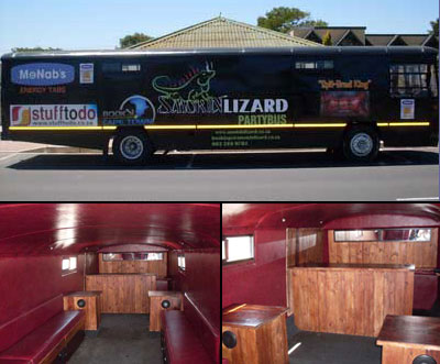 Smokin Lizard Party Bus